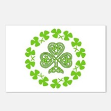Cute Green st patricks day Postcards (Package of 8)