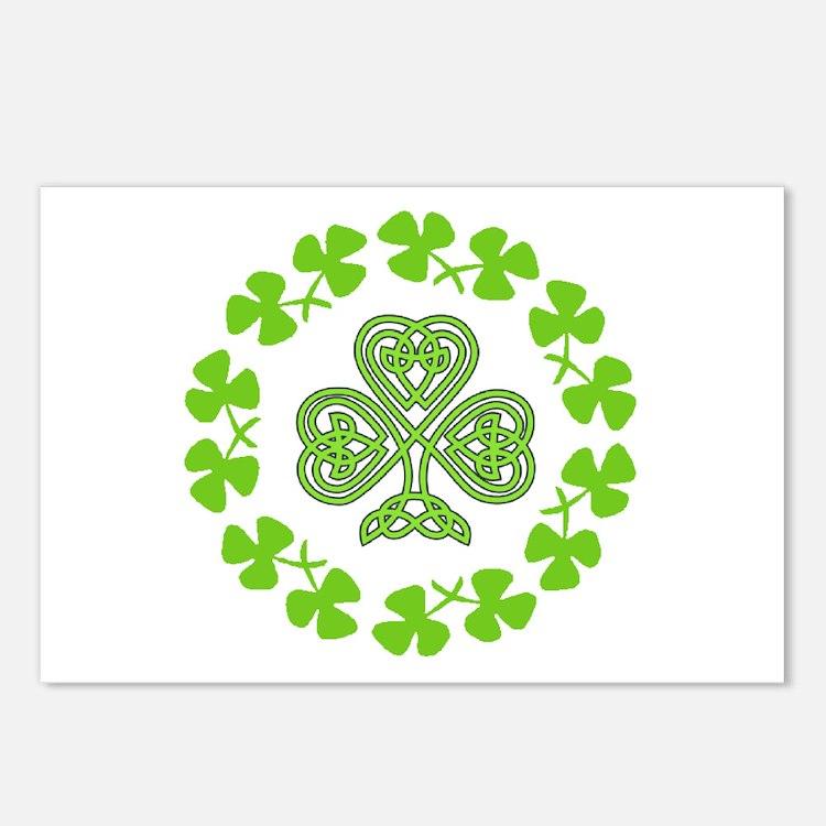 Cute Irish flag Postcards (Package of 8)