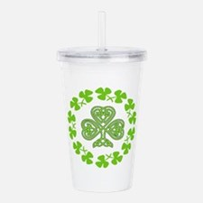 Cute Happy st. urho%27s day Acrylic Double-wall Tumbler