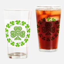 Cute Irish flag Drinking Glass