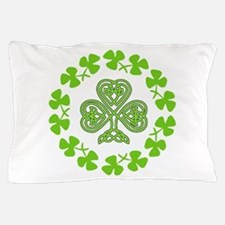 Cute Celtic irish bagpiper flag Pillow Case