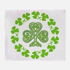 Funny Firefighter irish st patricks day Throw Blanket