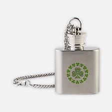 Cute Shamrock Flask Necklace