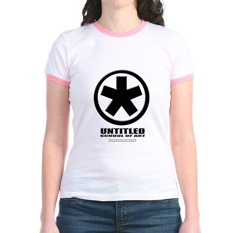 Black Untitled Jr. Ringer T-shirt