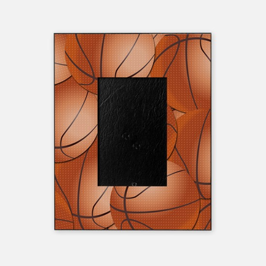 Basketball Pattern Picture Frame