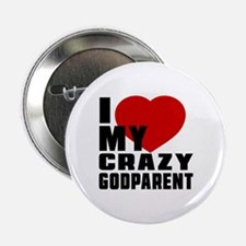 "I Love Godparent 2.25"" Button"