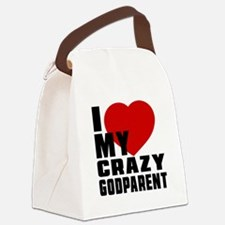 I Love Godparent Canvas Lunch Bag