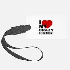 I Love Godparent Luggage Tag