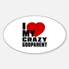 I Love Godparent Decal