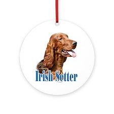 IrishSetterName Ornament (Round)