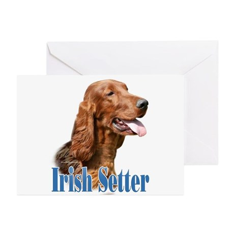 IrishSetterName Greeting Cards (Pk of 10)