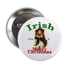 Irish Xmas Button