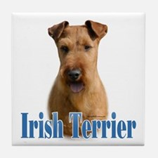 IrishTerrierName Tile Coaster