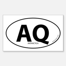 Cute Aq oval Decal