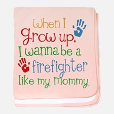 Firefighter Like Mommy baby blanket