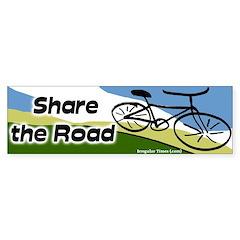 Share the Road Bumper Bumper Sticker