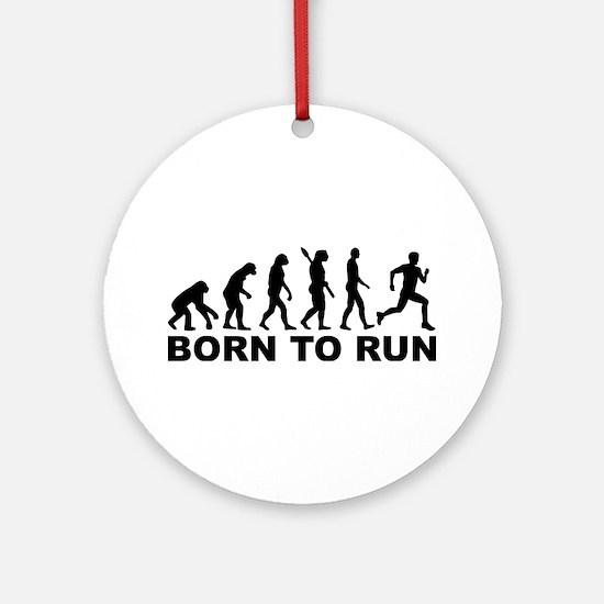 Evolution Born to run Round Ornament