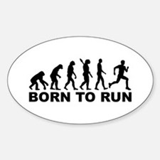 Evolution Born to run Sticker (Oval)
