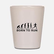 Evolution Born to run Shot Glass
