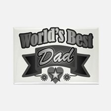 father's day world's best dad Magnets
