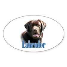 Lab(choco)Name Oval Decal