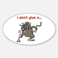 I don't give a rats... Decal