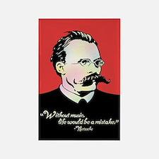Nietzsche Music Rectangle Magnet