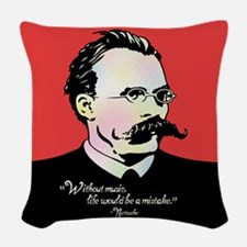 Nietzsche Music Woven Throw Pillow