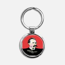 Nietzsche Music Round Keychain