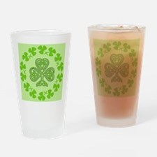 Unique Clover Drinking Glass
