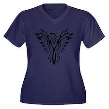 Tribal Phoenix Tattoo Bird Plus Size T-Shirt