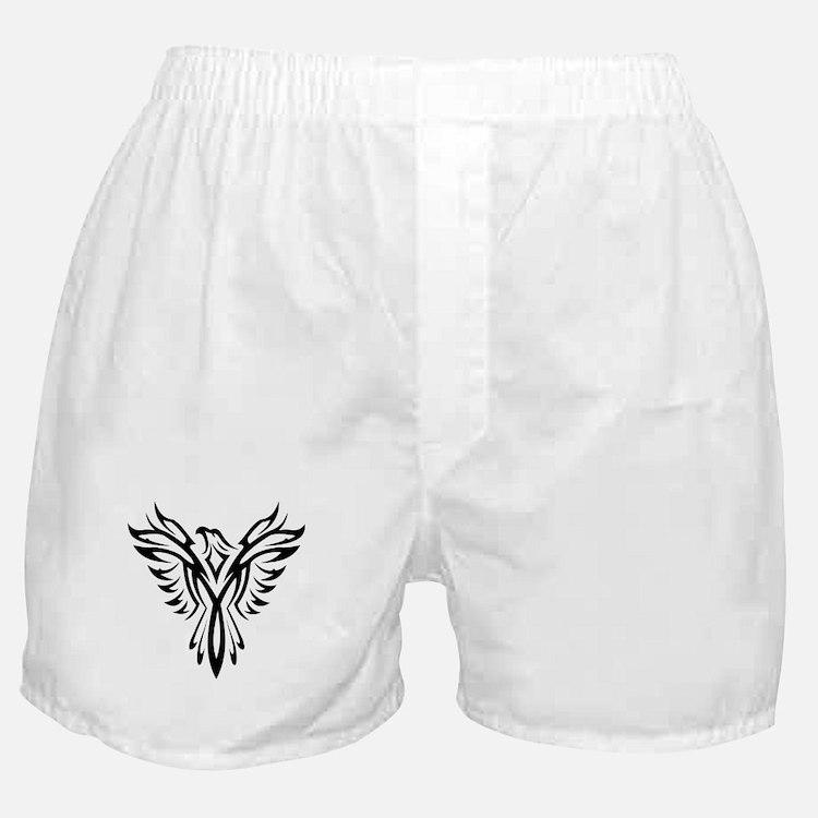Tribal Phoenix Tattoo Bird Boxer Shorts