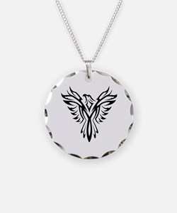 Tribal Phoenix Tattoo Bird Necklace