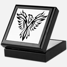 Tribal Phoenix Tattoo Bird Keepsake Box