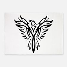 Tribal Phoenix Tattoo Bird 5'x7'Area Rug