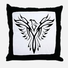 Tribal Phoenix Tattoo Bird Throw Pillow