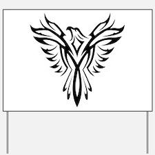 Tribal Phoenix Tattoo Bird Yard Sign