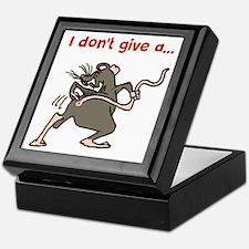 I don't give a rats... Keepsake Box