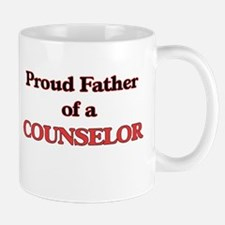Proud Father of a Counselor Mugs