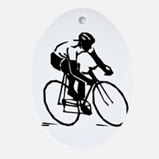 Cyclist Oval Ornament