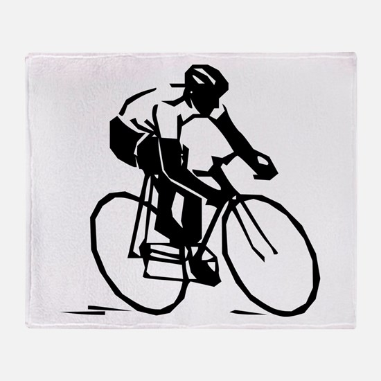 Cyclist Throw Blanket