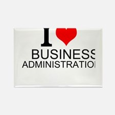 I Love Business Administration Magnets