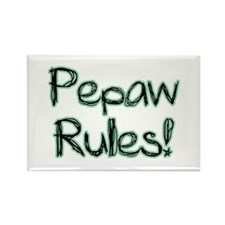 Pepaw Rules! Rectangle Magnet (100 pack)