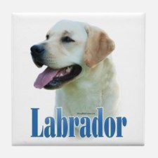 Lab(yellow)Name Tile Coaster