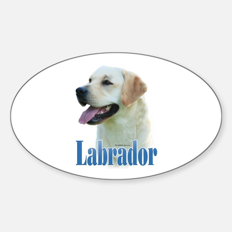 Lab(yellow)Name Oval Decal