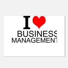 I Love Business Management Postcards (Package of 8