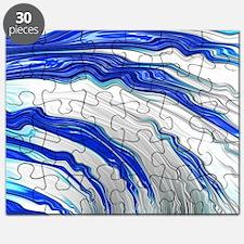 Unique Blue fractal Puzzle