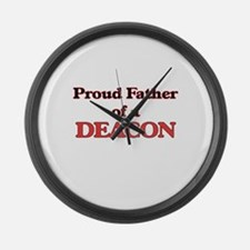 Proud Father of a Deacon Large Wall Clock