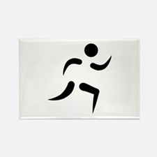 Running icon Rectangle Magnet (10 pack)