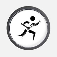 Running icon Wall Clock
